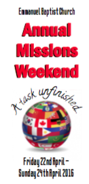 Missions weekend 2016